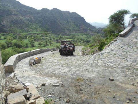 A road brings life into an isolated village in Taiz